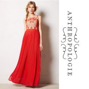 Anthropologie Rina Dhaka Rubied Dusk Dress